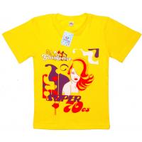 """91302-38 """"Glamoreze"""" футболка для девочек, 9-13 лет, желтый"""