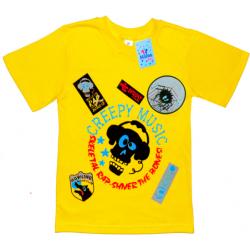 "91301-31 ""Creepy Music"" футболка для мальчиков 9-13 лет, желтый"