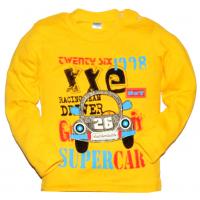 "11-141161 ""SUPER CAR"" Кофта на кнопках, 1-4 года, желтый"