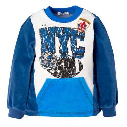 """NYC"" Толстовка с карманами, велюр, 1-4 года"