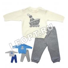 ЛЕО.  Комплект для мальчиков (джемпер+штанишки)