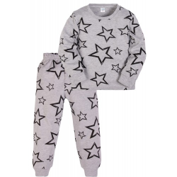 11-3781022 Пижама для девочек, 3-7 лет, серый