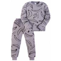 11-3781014 Пижама для мальчика, 3-7 лет, интерлок, серый