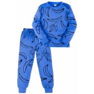 11-3781016 Пижама для мальчика, интерлок, 3-7 лет, синий