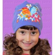 """""""Happy Lama"""" шапка для девочек """"Птички""""."""