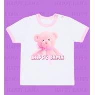 """H-3012 """"Мишка с бантом"""" футболка для девочки"""