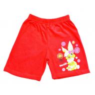 """5842-3 """"Beautiful"""" шорты для девочек, 5-8 лет, красный"""