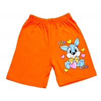 """5842-7 """"Cute Rabbit"""" шорты для девочек, 5-8 лет, оранжевые"""