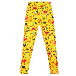 "11-58601 ""LOVE"" Лосины детские, 5-8 лет, желтый"