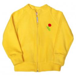 11-371276 Толстовка на молнии, флис, желтый