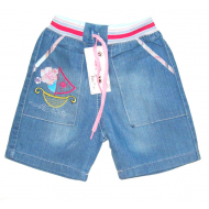 V 116 Sailor шорты джинсовые для девочек, 1-4 года