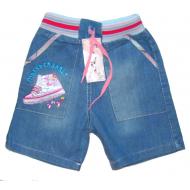 """V 117 """"Кроссовки"""" Шорты джинсовые для девочек, 1-4 года"""