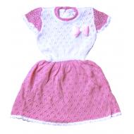 Платье вязаное для девочки, 74-80