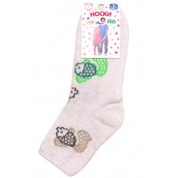 """L-0137 """"Ежики"""" Носки для девочки, лен"""