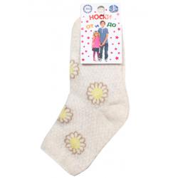 "L-01389 ""Ромашки"" Носки для девочки, лен"