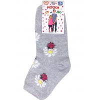 """L-0140 """"Букашки"""" Носки для девочки, серый"""