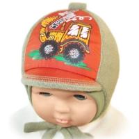 """""""Happy Lama"""" шапка для мальчиков """"Трактор"""""""
