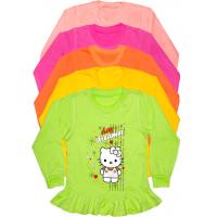 04-0222-1 Кофта с рюшами для девочек, интерлок, 110-128