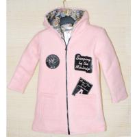 40-71201 Пальто демисезонное из буклированной шерсти 7 лет, светло-розовый