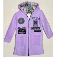 40-71202 Пальто демисезонное из буклированной шерсти 7-12 лет, сиреневый