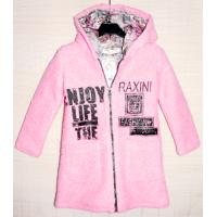 40-71205 Пальто демисезонное из буклированной шерсти 7-12 лет, розовый