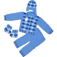 42-0598 Комплект для малыша вязаный, 80, голубой