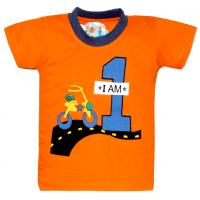"""10-14107 """"Я РАСТУ""""  футболка, 1-4 года, оранжевый"""