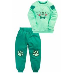 "10-148113 ""GALLANT"" Костюм для мальчика, 1-4 года, зеленый\мята"