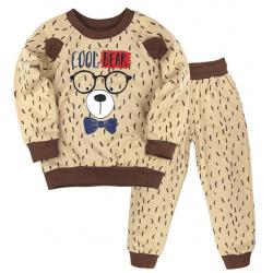 "10-148119 ""Cool Bear"" Костюм для мальчика, 1-4 года, бежевый"