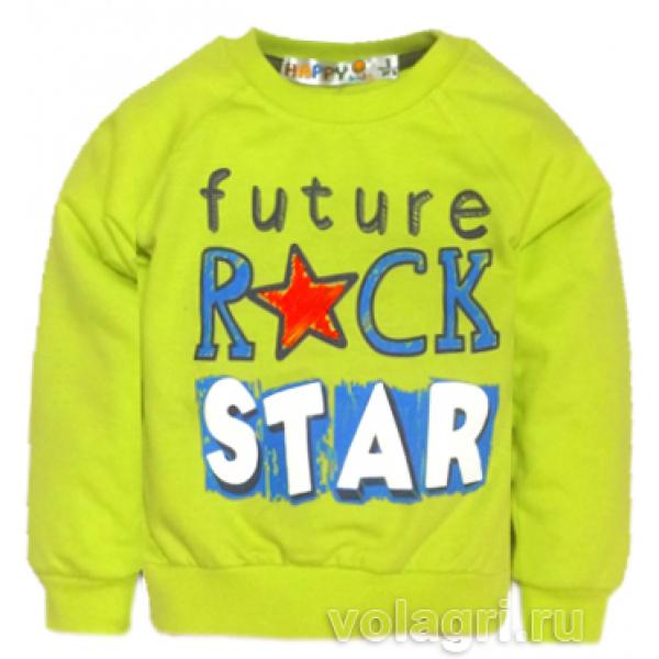 """10-148128 """"ROCK STAR"""" Костюм для мальчика, 1-4 года, салатовый\олива"""