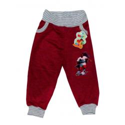 """10-149102 """"ФУТБОЛИСТ"""" Штаны для мальчика, 1-4 года, бордовый"""
