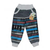 """10-149104 """"JUMP!"""" Штаны для мальчика, 1-4 года, т.серый"""