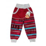 "10-149106 ""JUMP!"" Штаны для мальчика, 1-4 года, бордовый"