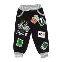 """10-149109 """"ВЕЛОСИПЕД"""" Штаны для мальчика, 1-4 года, черный"""