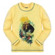 """10-581105 """"Bear"""" Джемпер для мальчика, 5-8 лет, светло-желтый"""
