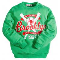 """10-5804 """"BROOKLYN"""" Лонгслив для мальчика на манжете, 5-8 лет, зеленый"""