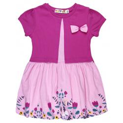 """10-58801 """"Летнее настроение"""" платье с болеро, розовый\темно-розовый"""