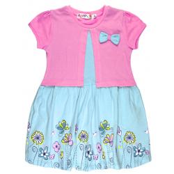 """10-58802 """"Летнее настроение"""" платье с болеро, розовый\мятный"""