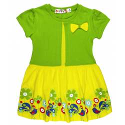 """10-58804 """"Летнее настроение"""" платье с болеро, салатовый\желтый"""