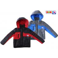 20-032  Комбинированная куртка для мальчика, 122-146