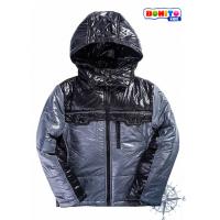 20-03102  Комбинированная куртка для мальчика, 7-11 лет, черный\серый
