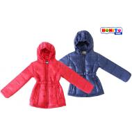 20-5010 Куртка удлиненная с капюшоном для девочки, 110-128