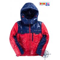20-03101  Комбинированная куртка для мальчика, 7-11 лет, красный\т.синий