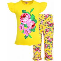 """45-68304 """"FLOWERS"""" комплект футболка с бриджами, 5-7 лет"""