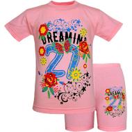 45-58211 Комплект для девочек, 110-128, розовый