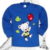 "11-141162 ""HAPPY BEAR"" Джемпер для мальчика, 1-4 года, синий"