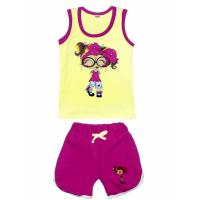 "11-142201 ""Модница"" комплект майка-шорты, 1-4 года"