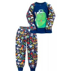 "11-148130 ""SCOOL BAG"" Пижама, интерлок, 1-4 года, синяя ночь"