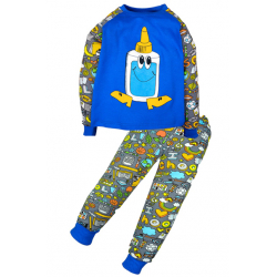 "11-148131 ""FUNNY GLUE"" Пижама, интерлок, 1-4 года, синий"