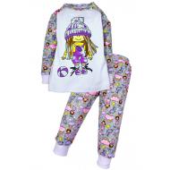 11-148233 Пижама для девочки, 1-4 года, белый